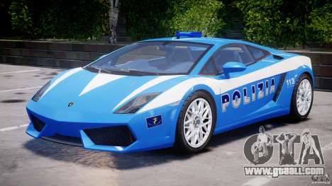 Lamborghini Gallardo LP560-4 Polizia for GTA 4 left view