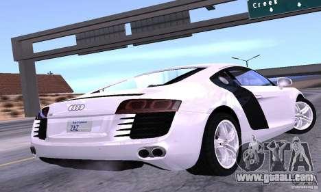 Audi R8 4.2 FSI for GTA San Andreas left view