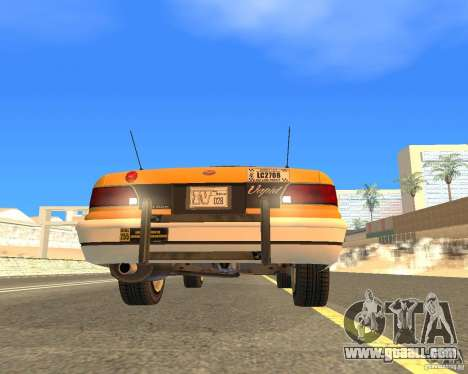 Taxi from GTAIV for GTA San Andreas back view