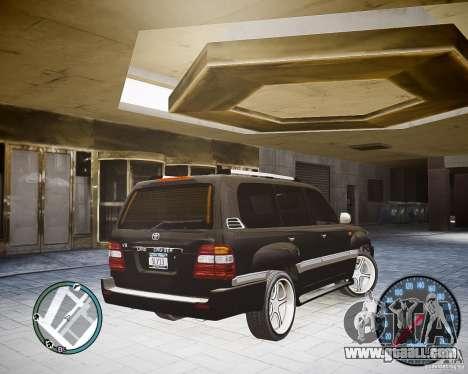 Toyota Land Cruiser 100 for GTA 4 left view