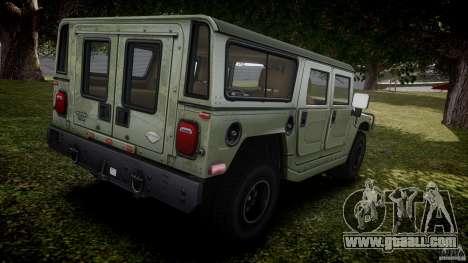Hummer H1 Original for GTA 4 upper view