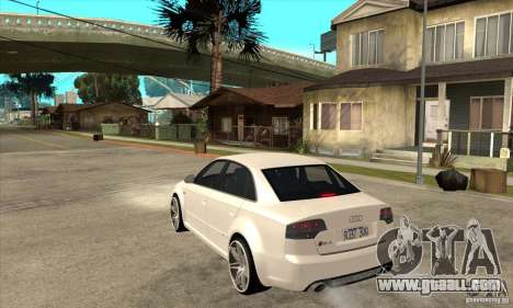 Audi RS4 2006 v2 for GTA San Andreas back left view