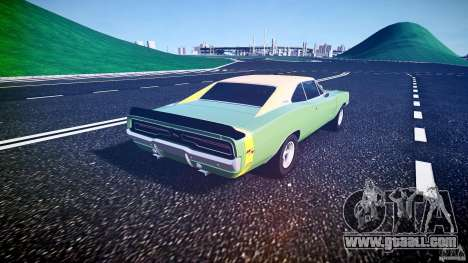 Dodge Charger RT 1969 tun v1.1 for GTA 4 back left view