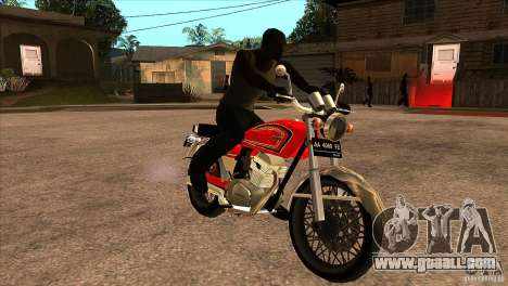 Honda CB 125 for GTA San Andreas back view