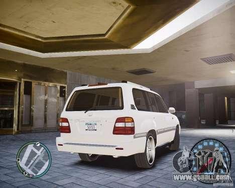 Toyota Land Cruiser 100 for GTA 4 back left view