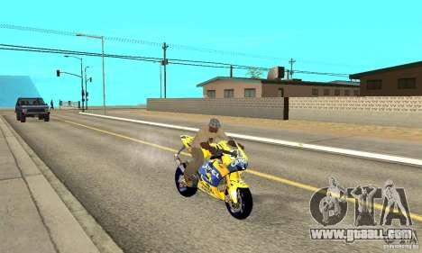 Honda Valentino Rossi Bf400 for GTA San Andreas right view