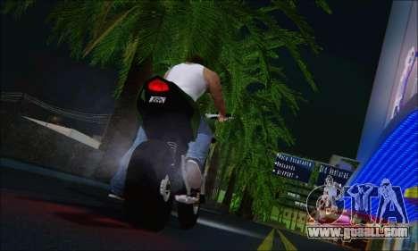 Honda CB600F Hornet 2012 for GTA San Andreas back left view