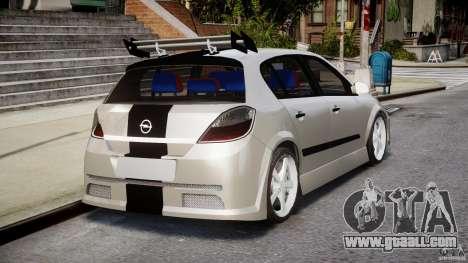 Opel Astra 1.9 TDI 2007 for GTA 4 upper view