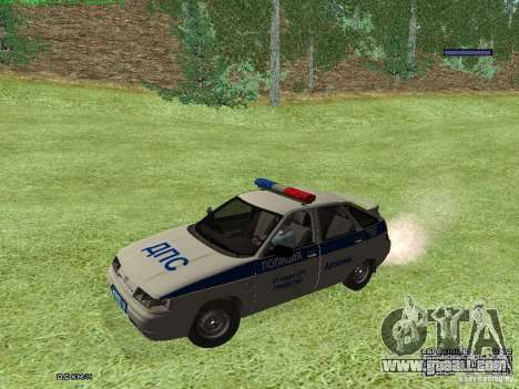 LADA 2112 DPS Police for GTA San Andreas left view