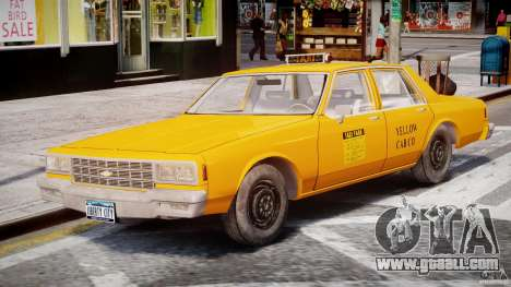 Chevrolet Impala Taxi 1983 [Final] for GTA 4 side view