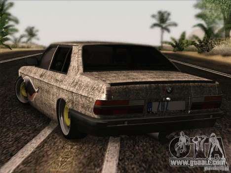 BMW E28 525E RatStyle for GTA San Andreas right view