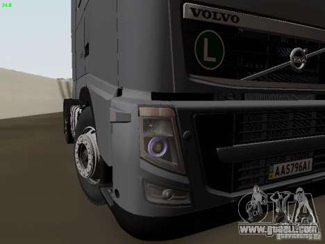 Volvo FH13 Globetrotter for GTA San Andreas bottom view