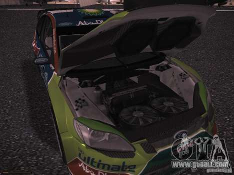 Ford Focus RS WRC 2010 for GTA San Andreas bottom view