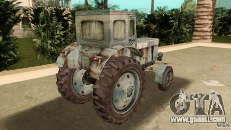 Tractor t-40 for GTA Vice City back left view