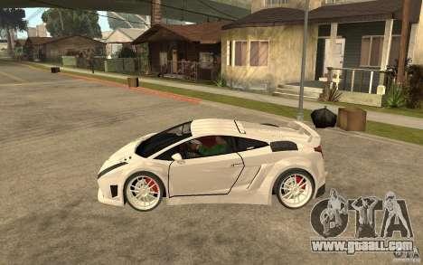 Lamborghini Gallardo MW for GTA San Andreas left view