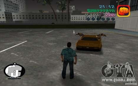 Delorean DMC-13 for GTA Vice City left view