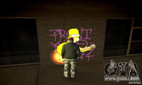 Simpson Graffiti Pack v2 for GTA San Andreas third screenshot