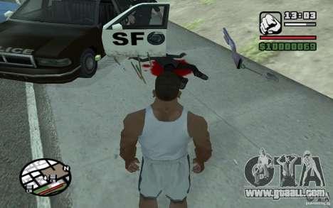 Throwing shovels for GTA San Andreas second screenshot