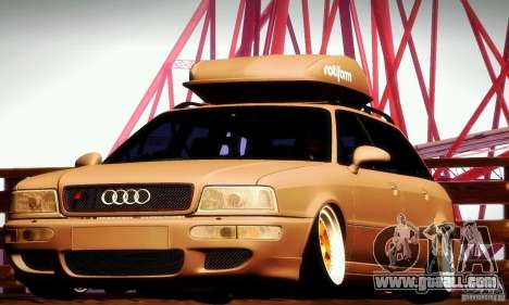 Audi RS2 Avant Thug for GTA San Andreas inner view