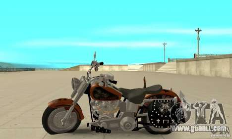Harley Davidson FLSTF (Fat Boy) v2.0 Skin 2 for GTA San Andreas left view