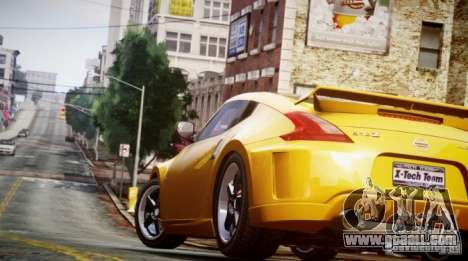 Nissan 370Z Final for GTA 4 back left view