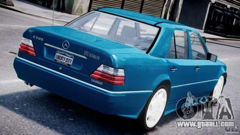 Mercedes-Benz W124 E500 1995 for GTA 4 back left view