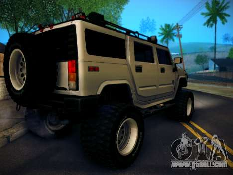 Hummer H2 Monster 4x4 for GTA San Andreas left view