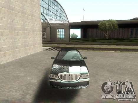 Lincoln Town car sedan for GTA San Andreas back view