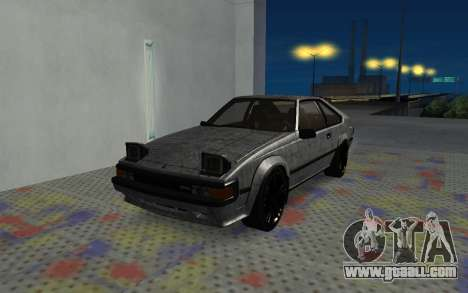 Toyota Celica Supra 2JZ-GTE 1984 for GTA San Andreas bottom view