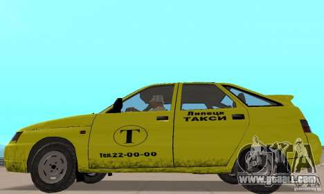 VAZ 21124 TAXI for GTA San Andreas back left view