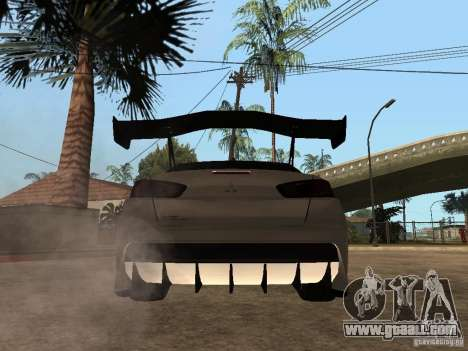 Mitsubishi Lancer Evolution X Drift Spec for GTA San Andreas back left view