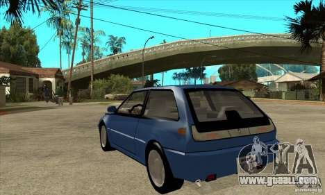 Volvo 480 Turbo for GTA San Andreas back left view