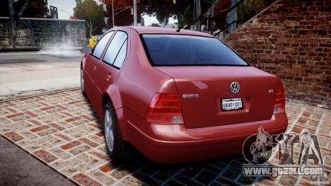 Volkswagen Bora for GTA 4 back left view