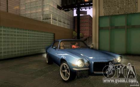 Chevrolet Camaro Z28 for GTA San Andreas bottom view