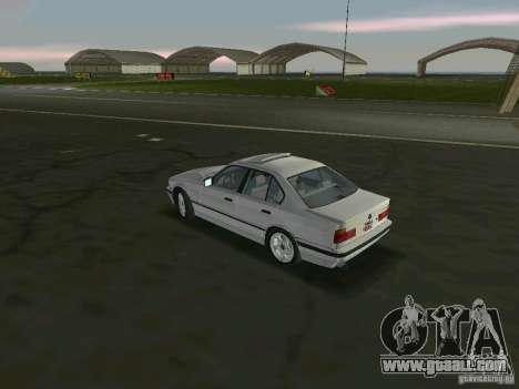 BMW 540i (E34) 1992 for GTA Vice City back left view