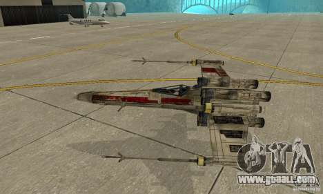 X-WING of Star Wars v1 for GTA San Andreas side view