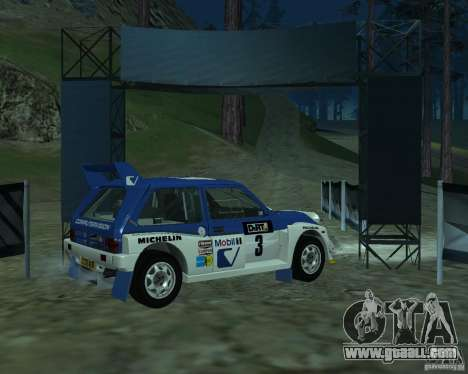 MG Metro 6M4 Group B for GTA San Andreas back left view