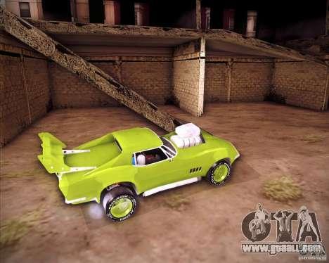 Chevrolet Corvette drag for GTA San Andreas right view