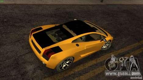 Lamborghini Gallardo SE for GTA San Andreas side view