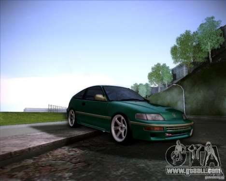 Honda Civic CRX JDM for GTA San Andreas bottom view