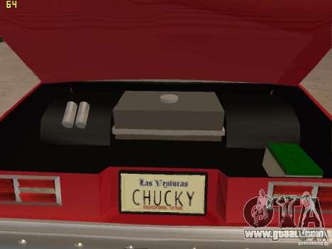 Chevrolet Nova Chucky for GTA San Andreas inner view