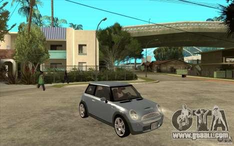 Mini Cooper - Stock for GTA San Andreas back view