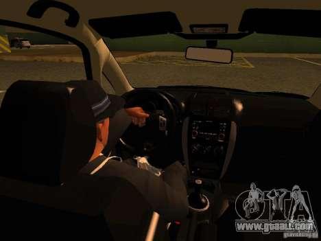 Suzuki SX-4 Hungary Police for GTA San Andreas upper view
