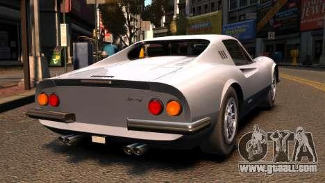 Ferrari Dino 246 GTS 1972 for GTA 4 back left view
