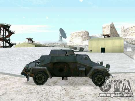 Armoured personnel carrier of game behind enemy  for GTA San Andreas left view