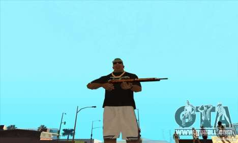 WEAPON BY SWORD for GTA San Andreas second screenshot