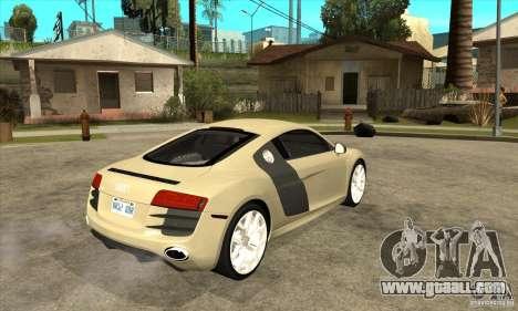 Audi R8 V10 5.2 FSI Quattro for GTA San Andreas right view
