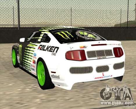 Ford Mustang GT 2010 Vaughn Gittin Jr for GTA San Andreas back left view