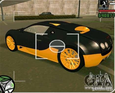 Bugatti Veyron Super Sport final for GTA San Andreas left view