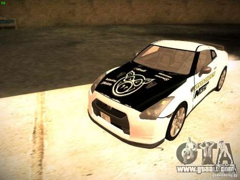 Nissan GT-R for GTA San Andreas upper view
